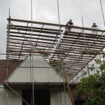 ... followed by the temporary roof.
