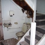 Demolition of the reception area and stairs