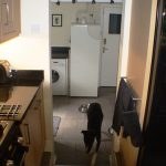 Passageway from kitchen to utility room