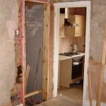 Resiting the cellar door to give room for a fridge-freezer in the kitchen