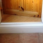 Attention to detail - the step down from the dining area into the kitchen