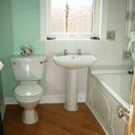 The bathroom seen from the landing